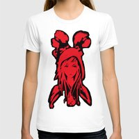 red riding hood T-shirts featuring Miss Red riding hood  by Sammycrafts