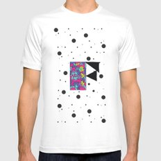Letter F White MEDIUM Mens Fitted Tee