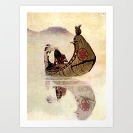 "N C Wyeth Vintage Western Painting ""Hiawatha"" Art Print"