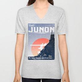Final Fantasy VII - Visit Junon Propaganda Poster Unisex V-Neck