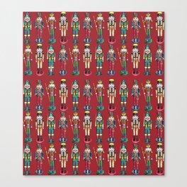 The Nutcracker Prince Pattern Red Canvas Print