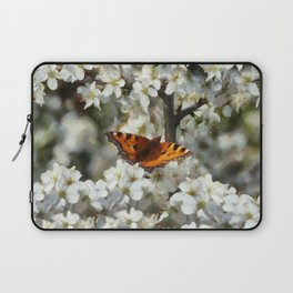Butterfly on Blossom Laptop Sleeve