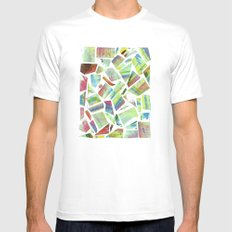 Collage Mens Fitted Tee MEDIUM White