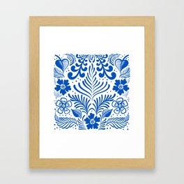 Mexican Folk Floral Ornaments Framed Art Print