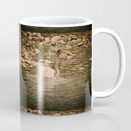Mallard Duck Flapping Wings in Water Coffee Mug