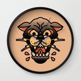 Panther Tattoo Wall Clock