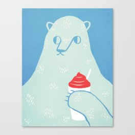 Polar Beverage Canvas Print