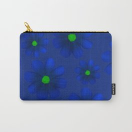 Blue Flowers Beautiful Pattern Carry-All Pouch
