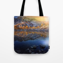 Vibrant Landscape Sunset Tote Bag