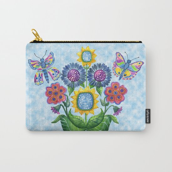Butterfly Playground on a Summer Day Carry-All Pouch