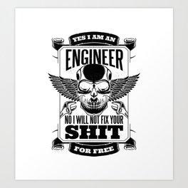 Engineer Art Print