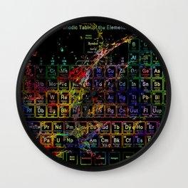 Periodic Table RGB Wall Clock