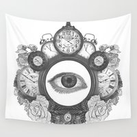 floyd Wall Tapestries featuring Time by ohzemesmo