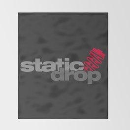 Static drop v1 HQvector Throw Blanket