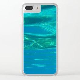 Sea design Clear iPhone Case