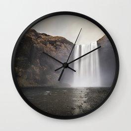 The Mighty Skogafoss Wall Clock