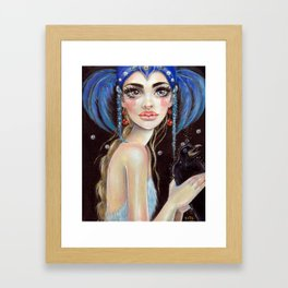 Lenore and the Three Eyed Raven Lowbrow  Framed Art Print
