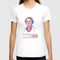 carl sagan T-shirts featuring Listen To Sagan by IllsOnTees