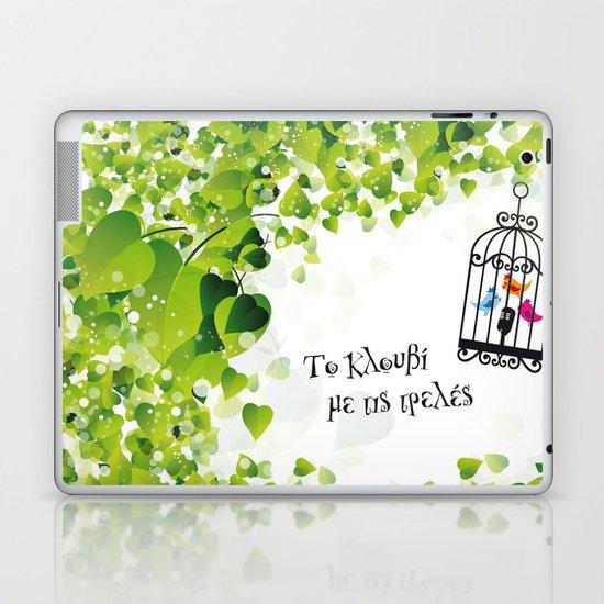 Το κλουβί με τις τρελές (the cage with the crazy girls) Laptop & iPad Skin