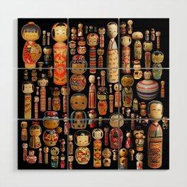 Kokeshi Wood Wall Art