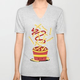 Extreme French Fry Making Unisex V-Neck