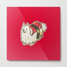 Alpaca Sushi Niguiri III Metal Print