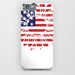 Patriotic Sunflower Red White and Blue Sunflower USA iPhone Case