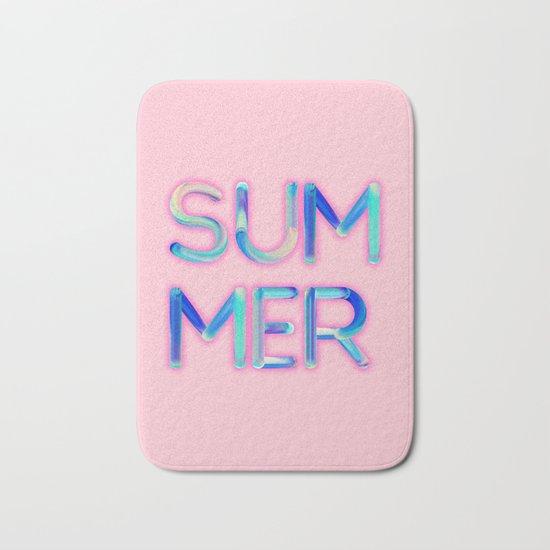 Pink Summer Bath Mat