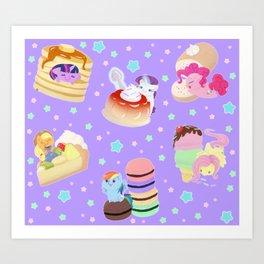 Ponies x Sweets Art Print