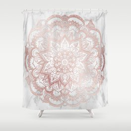 Rose Gold Mandala Star Shower Curtain
