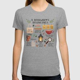 A Bookworm's Belongings T-shirt