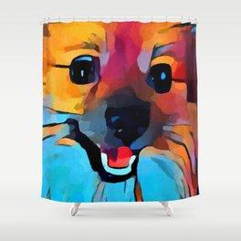 Pomeranian 2 Shower Curtain