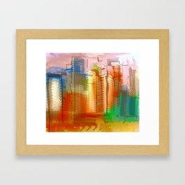City with Attitude Framed Art Print