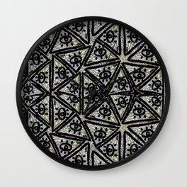 Triangle MÖÓL pattern Wall Clock