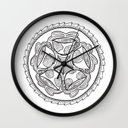 Color-in Coffee Mandala Coloring Page Wall Clock