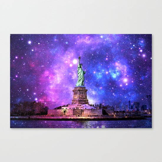 space Statue of Liberty Canvas Print