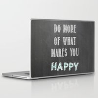 calendars Laptop & iPad Skins featuring Quote, inspiration chalk board  by Shabby Studios Design & Illustrations ..