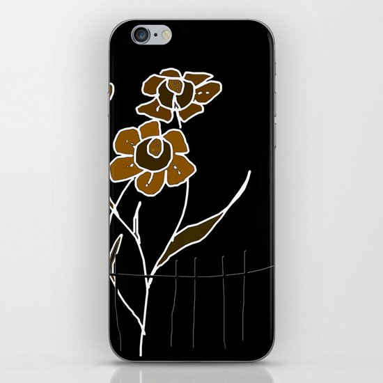 Painting flowers iPhone & iPod Skin