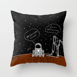 Opportunity Is Dark Throw Pillow