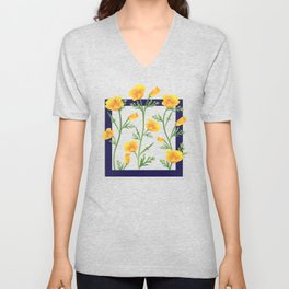 California Gold Rush (Poppies) Unisex V-Neck