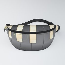 White And Black Piano Keys Fanny Pack