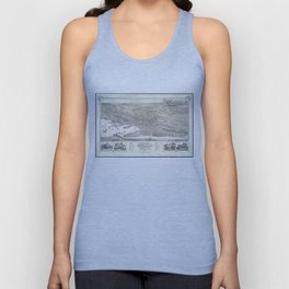 Vintage Pictorial Map of Nantucket (1881) Unisex Tank Top
