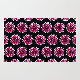 Dahlias Pattern  in Pink, Red Rug