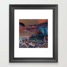 Beach Day - Umbrellas - Ocean Framed Art Print