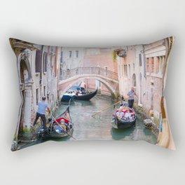 Exploring Venice by Gondola Rectangular Pillow