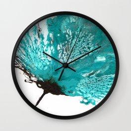 blue ombre Wall Clock