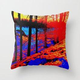 Snow Fire Throw Pillow