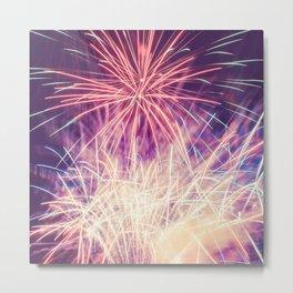 Fireworks - Evening Summer Festival Photography Metal Print