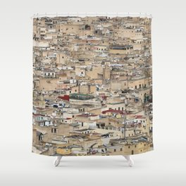 Skyline Roofs of Fes Marocco Shower Curtain