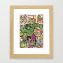 The Hulk Vintage Comic Art Framed Art Print